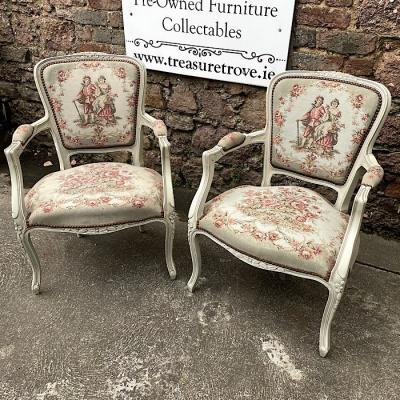 French Style Needlepoint Armchairs