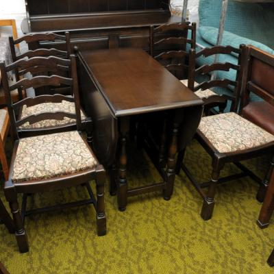 Gate Leg Table & 6 Chairs