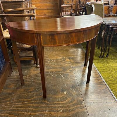 Georgian Mahogany Demi Lune Hall Table