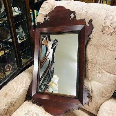Georgian Mahogany Framed Mirror