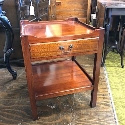 Georgian Mahogany Single Drawer Side Table