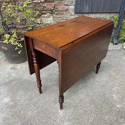 Georgian Oak Drop Leaf Table