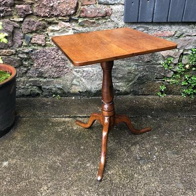 Georgian Oak Square Tripod Table
