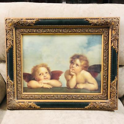 Gilt Framed Cherub Print