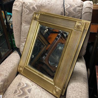 Gilt Wide Framed Beveled Mirror