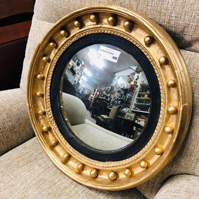 Gilt Wood Convex Mirror
