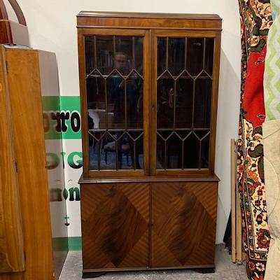 Glazed Mahogany Tall Bookcase