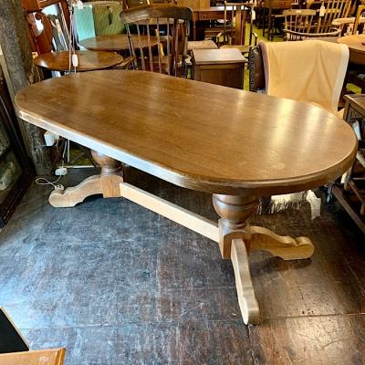 Heavy Solid Oak Dining Table