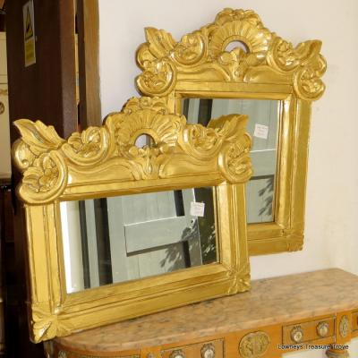 Gold Painted Mirrors