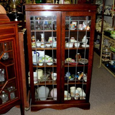 Small Oak Glazed Bookcase