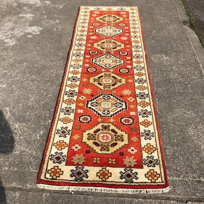 Indo Kazak Hand Woven Wool Rug