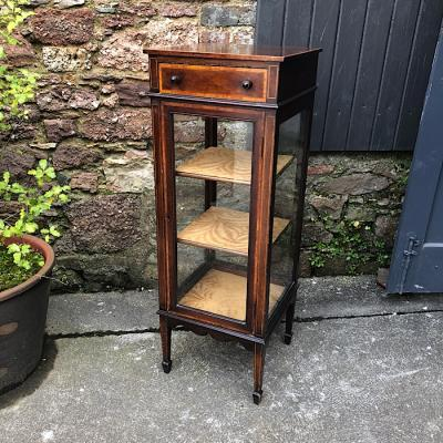 Inlaid Edwardian Four Sided Display Cabinet