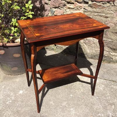 Inlaid Edwardian Rosewood Occasional Table