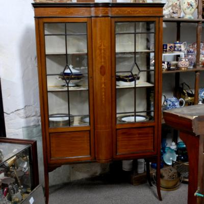 Inlaid Mahogany Display Cabinet