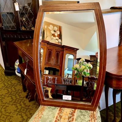 Inlaid Mahogany Famed Mirror