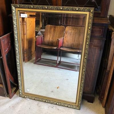Large Gilt Framed Bevelled Mirror