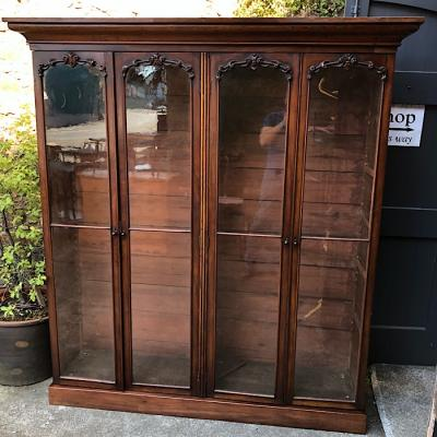 Large Victorian Mahogany Four Door Bookcase