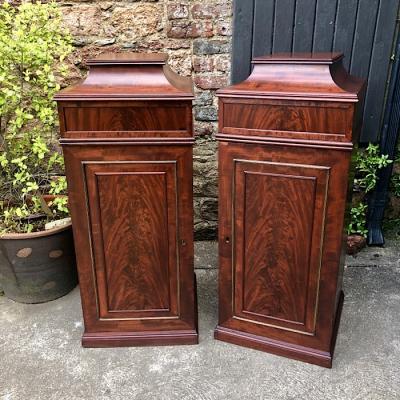 Large Victorian Mahogany Pedestals