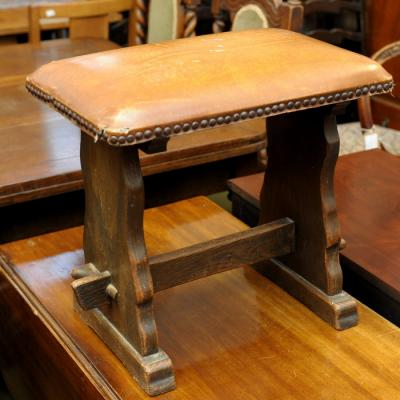 Leather & Oak Stool