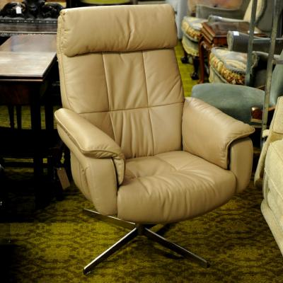 Leather Gliding Arm Chair