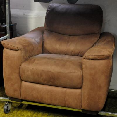 Light Brown Saddle Fabric Armchair