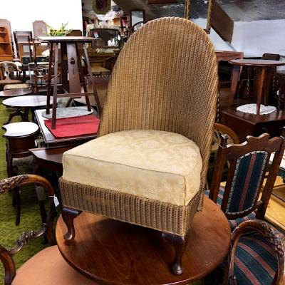 Lloyd Loom Chair With Upholstered Seat