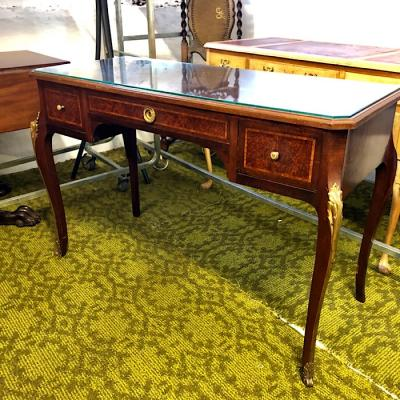 Louis Xv Style Burr Walnut & Ormolu Mounted Lady'S Writing Table