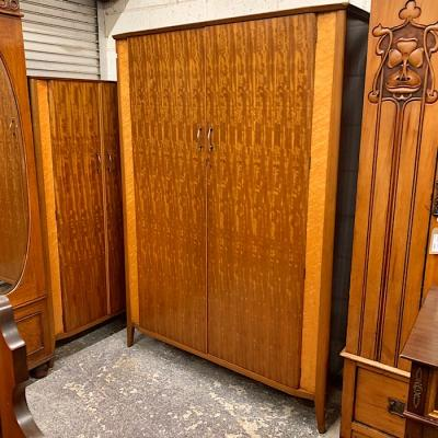 Mahogany & Birds Eye Maple Wardrobe