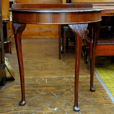Mahogany Demi-Lune Hall Table