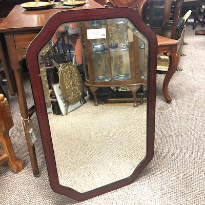 Mahogany Framed Bevelled Mirror