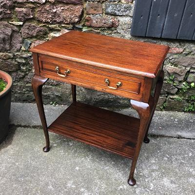 Mahogany Single Drawer Side Table