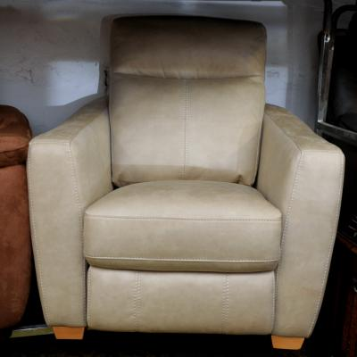 Mink Saddle Fabric Reclining Armchair