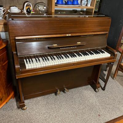 Early Twentieth Century Mahogany Overstrung Upright Piano