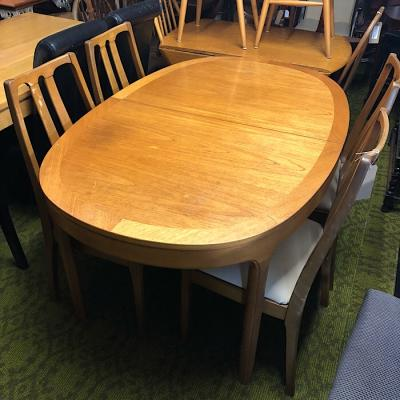 Nathan Teak Extending Dining Table And Four Chairs