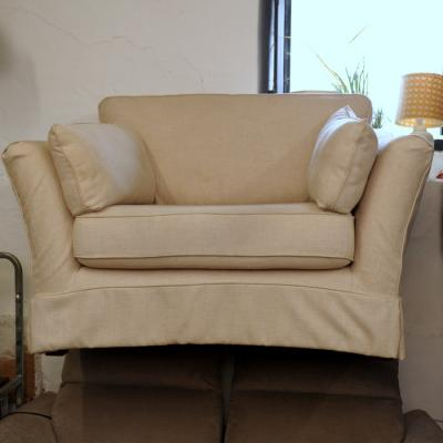 Natural Loose Cover Snuggle Chair