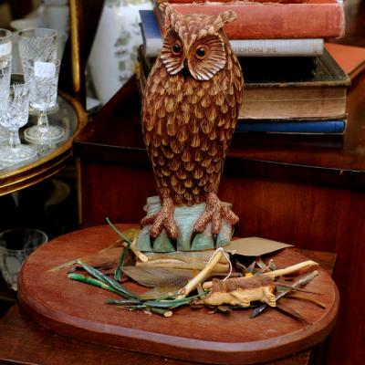 Norman Parr Owl Carving