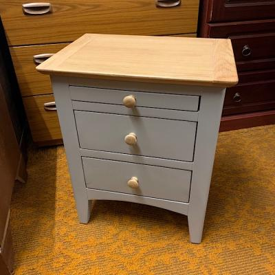 Oak And Grey Bedside Chest