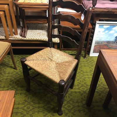 Oak Ladder Back Rush Seat Chair
