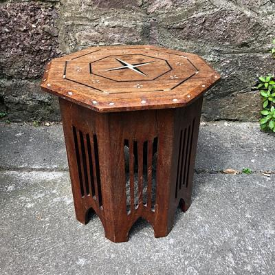 Octagonal Inlaid Occasional Table