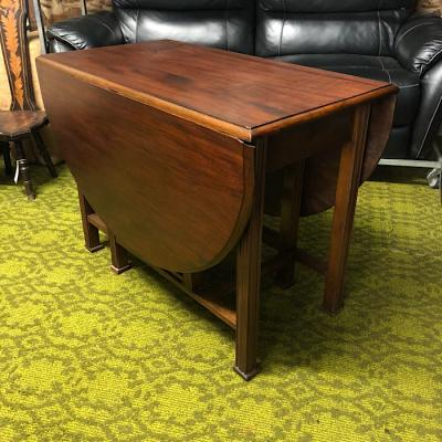 Oval Mahogany Drop Leaf Table