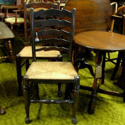 Pair of Georgian Oak Chairs
