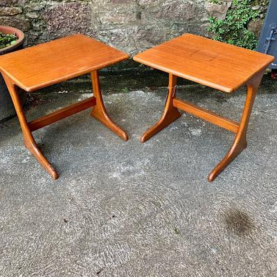 Pair of Retro Teak Lamp Tables