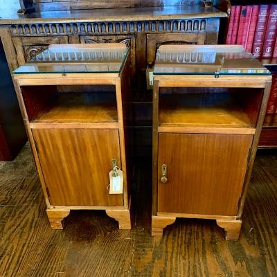 Pair of Vintage Mahogany Bedside Lockers