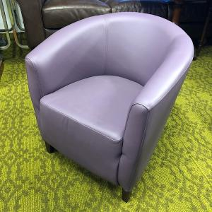Purple Leather Tub Chair