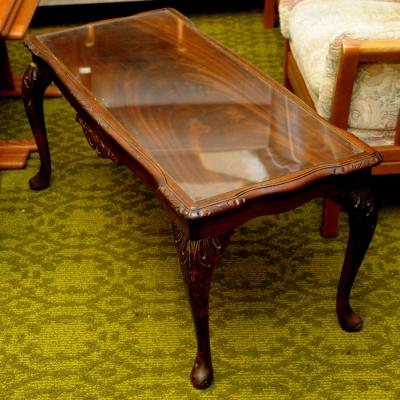Queen Anne Style Mahogany Coffee Table