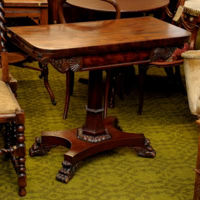 Regency Mahogany Fold-Over Card Table