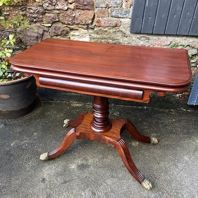 Regency Mahogany Fold-Over Tea Table