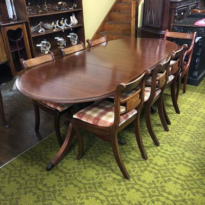 Regency Style Dining Table & Eight Chairs
