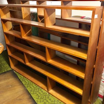 Retro Beech Open Bookcase