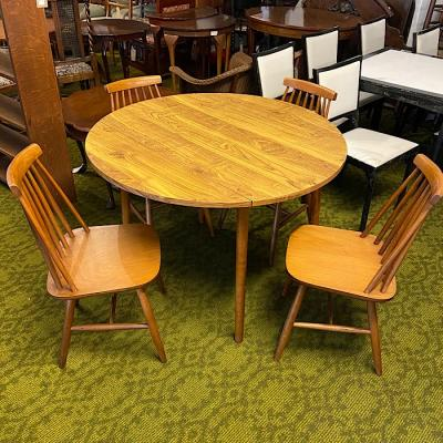 Retro Formica Drop-Leaf Kitchen Table And Four Chairs